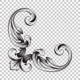 Isoleer hoekornament royalty-vrije illustratie