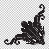 Isoleer hoekornament in barokke stijl vector illustratie