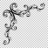 Isoleer hoekornament in barokke stijl Stock Foto's