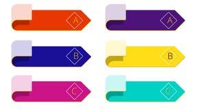 Isoleer moderne minimale pijlelementen voor bedrijfsinfographics vector illustratie