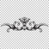 Isoleer ornament in barokke stijl vector illustratie