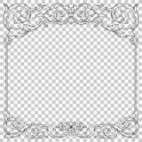Isoleer ornament in barokke stijl stock illustratie