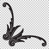 Isoleer ornament in barokke stijl royalty-vrije illustratie