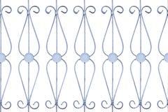 Isoleer patroon van de oude omheining van het roestijzer Royalty-vrije Stock Afbeeldingen