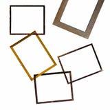 Isoleer samen oud houten kader vector illustratie