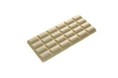 Isoleert de tegels witte poreuze chocolade Stock Afbeeldingen