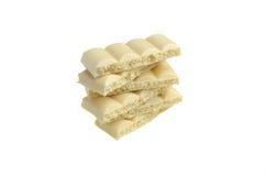 Isoleert de tegels witte poreuze chocolade Royalty-vrije Stock Foto