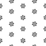 Isolement abstrait de flocons de neige sans couture de modèle, élément d'hiver pour la conception Photos stock