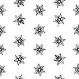 Isolement abstrait de flocons de neige sans couture de modèle, élément d'hiver pour la conception Photo stock