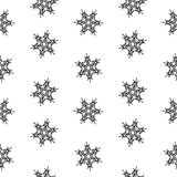 Isolement abstrait de flocons de neige sans couture de modèle, élément d'hiver pour la conception Photos libres de droits