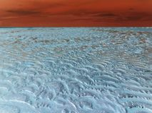 Isolement blanc : pergélisol dans le coucher du soleil rouge images libres de droits