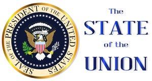 Isolement d'État de l'Union illustration stock