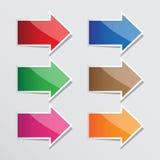 Isolement d'icône de flèche de vecteur Image libre de droits
