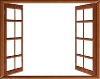 Isolement de fenêtre ouverte Images libres de droits