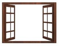 Isolement de fenêtre ouverte Photo stock