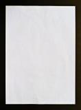 Isolement noir de papier chiffonné Photo libre de droits