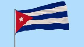 Isolera flaggan av Kuban på en flaggstång som fladdrar i vinden på en genomskinlig bakgrund, 3d tolkningen, PNG-format med den al