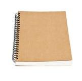 Isolerad återanvänd främre räkning för pappers- anteckningsbok Royaltyfria Bilder