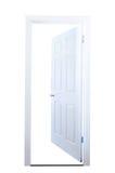 Isolerad öppen dörr Royaltyfri Foto