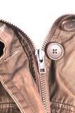 isolerad öppen stilfull zipper för omslag Arkivfoton