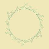 Isolerad abstrakt rund form naturligt symbol Royaltyfri Foto