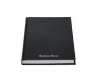 isolerad affärsdagbok Royaltyfri Bild