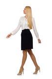 Isolerad affärskvinna i affärsidé Royaltyfri Foto