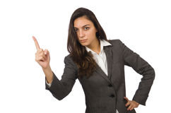 Isolerad affärskvinna i affärsidé Arkivfoton