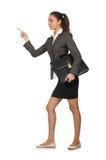 Isolerad affärskvinna i affärsidé Royaltyfria Bilder