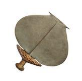 Isolerad afrikansk stam- ceremoniell kniv. Arkivbild