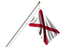 isolerad alabama flagga Arkivfoton