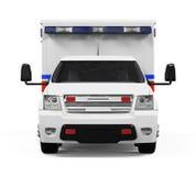 isolerad ambulansbil Royaltyfri Foto