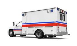 isolerad ambulansbil Fotografering för Bildbyråer