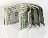 isolerad amerikansk kontant dollar Royaltyfria Bilder