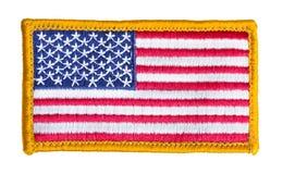 Isolerad amerikanska flagganlapp royaltyfria bilder