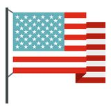 Isolerad amerikanska flaggansymbol royaltyfri illustrationer
