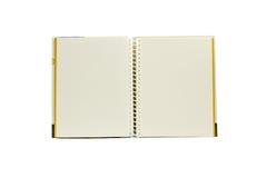 Isolerad anmärkningsbok för två sida royaltyfria foton