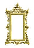 Isolerad antik guld- ram Royaltyfria Bilder