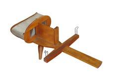 Isolerad antik stereoskopisk tittare Arkivbild