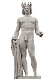Isolerad Apollo staty Arkivbilder
