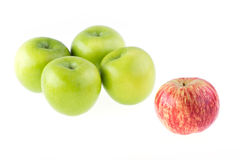 Isolerad Apple frukt Arkivfoto