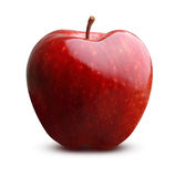 Isolerad Apple frukt Arkivfoton
