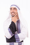 Isolerad arabisk affärsman Arkivbild