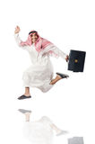 Isolerad arabisk man Arkivfoto