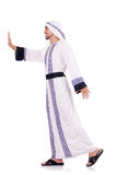 Isolerad arabisk man Arkivbild