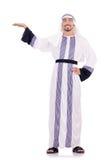 Isolerad arabisk man Fotografering för Bildbyråer