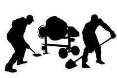 Isolerad arbetarkontur royaltyfri illustrationer