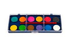 Isolerad ask med vattenfärger på en vit bakgrund arkivfoton