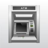 Isolerad ATM-bankbankomat Royaltyfri Foto