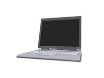 Isolerad bärbar dator Royaltyfri Fotografi